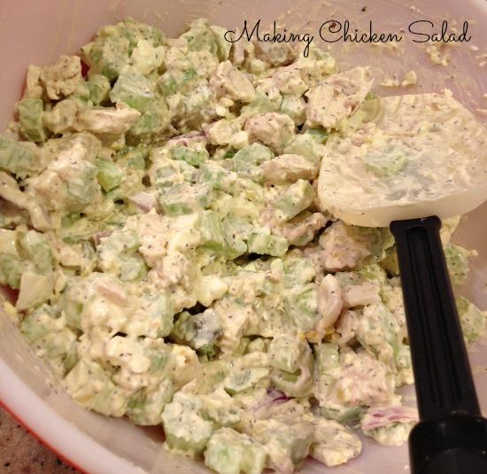 making chicken salad 2 rt