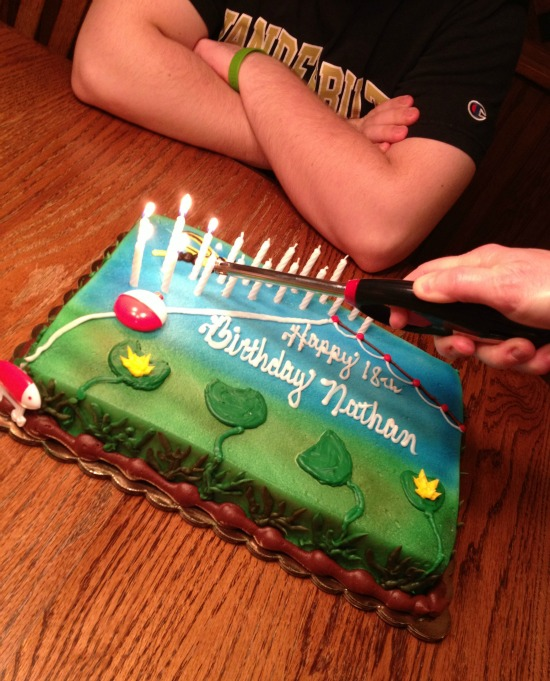 Nate's 18th birthday cake