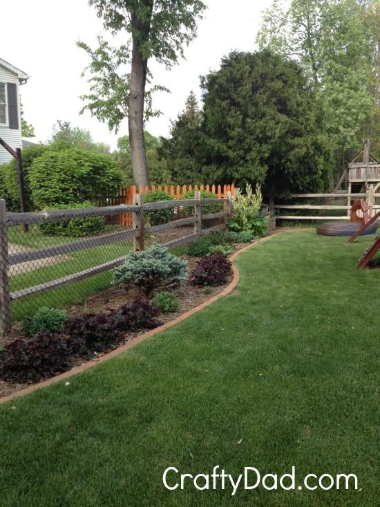 Backyard Landscape Area