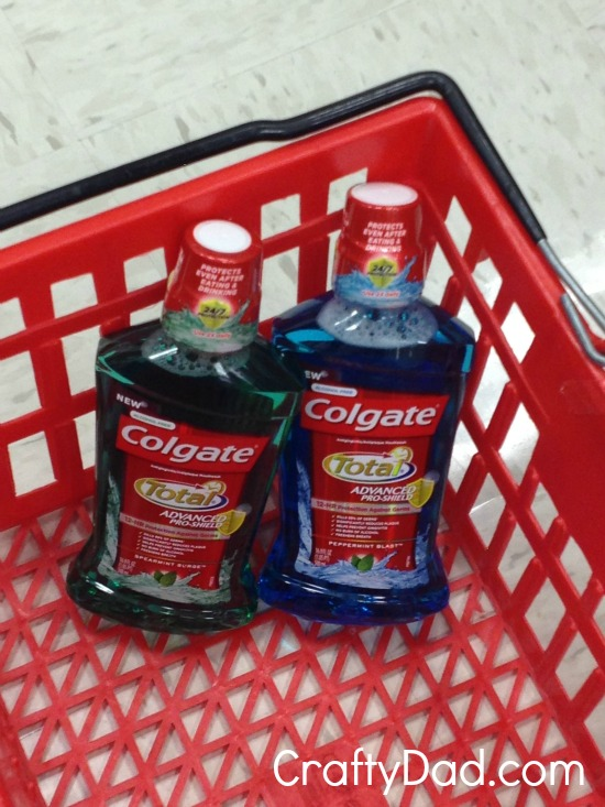 mouthwash in basket