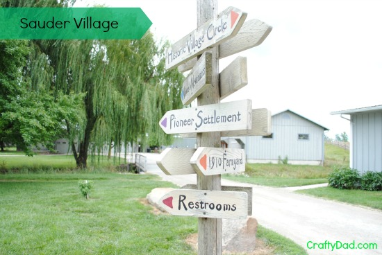Sauder Village Sign Post