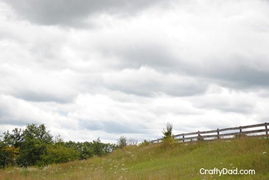 Sky and fence line at Sauder Village