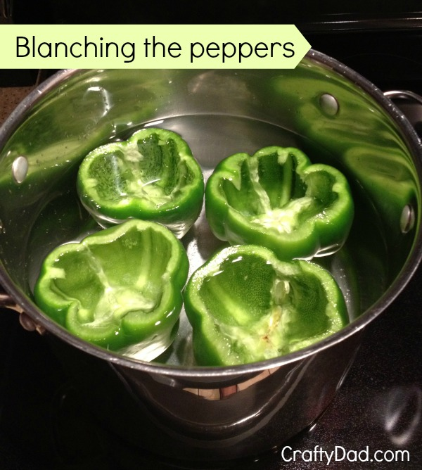 Blancing the peppers 600h