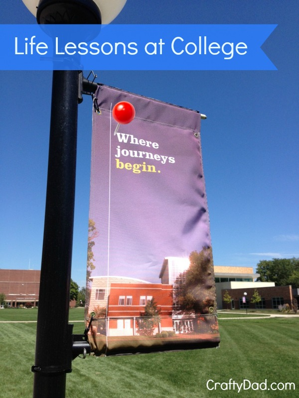 Life Lessons at College Banner