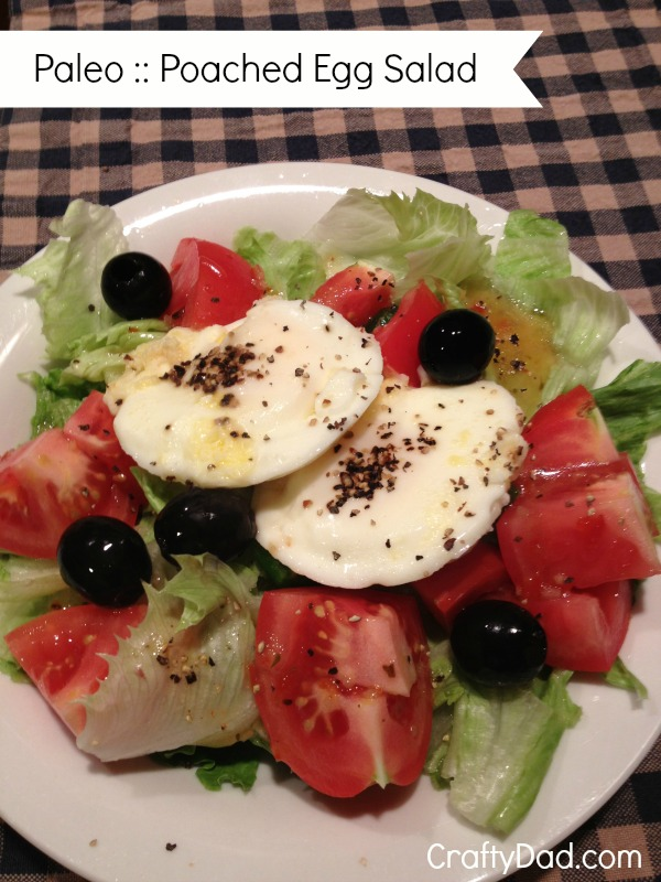Paleo Poached Egg Salad