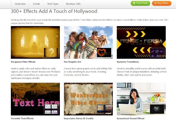 Wondershare Video Editor Screen Capture