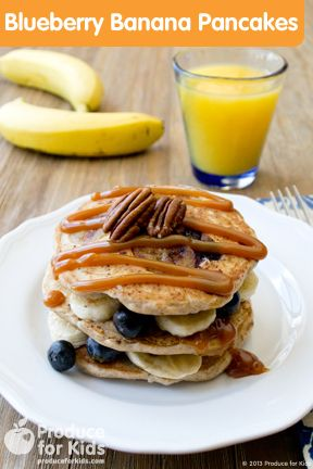 PFK Blueberry Banana Pancakes