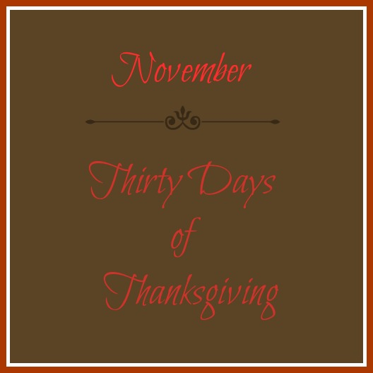 thirty days of thanksgiving