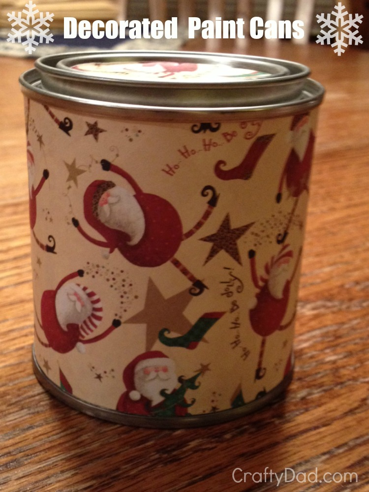 decorated paint cans