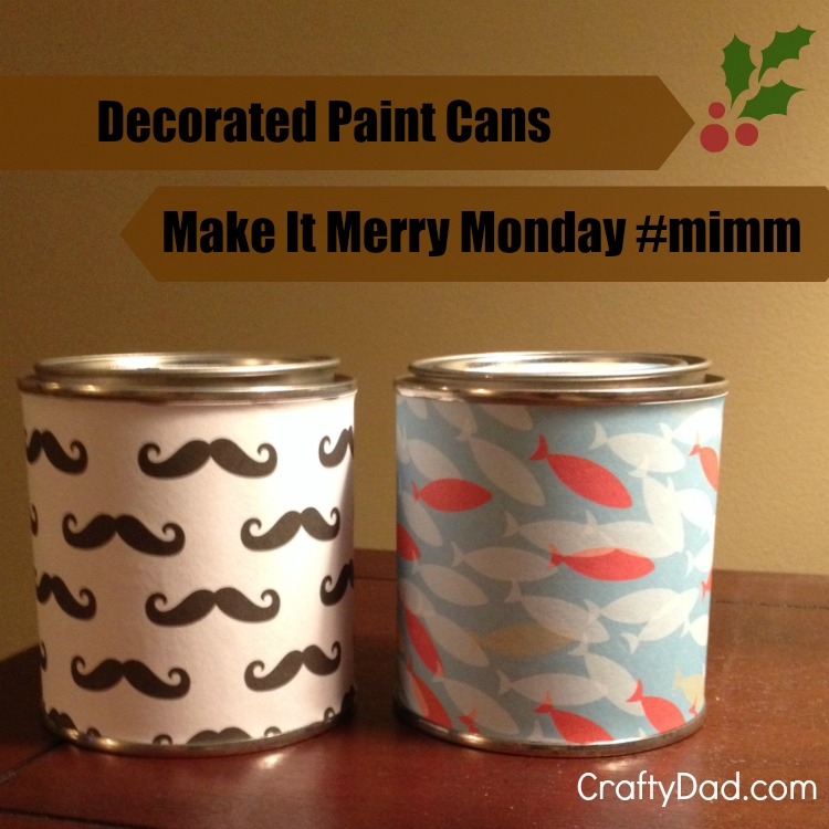 make it merry monday paint cans