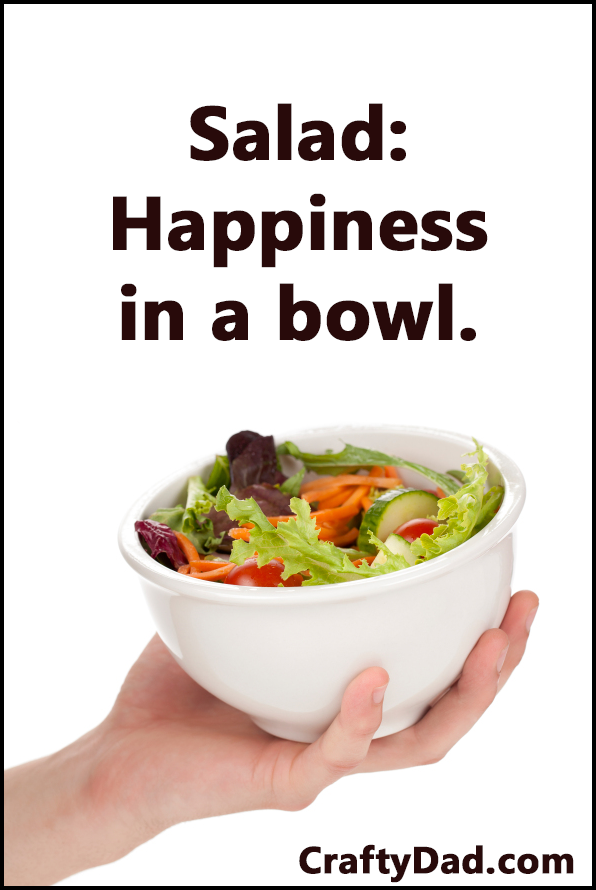 Salad - Happiness in a bowl w black frame