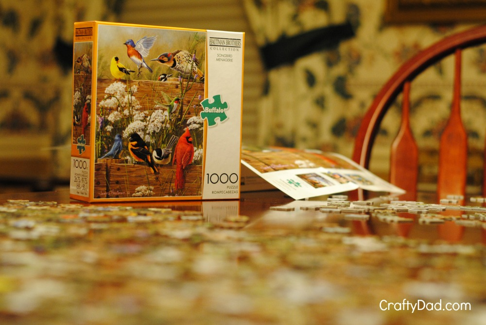 Puzzle Box on dining room table