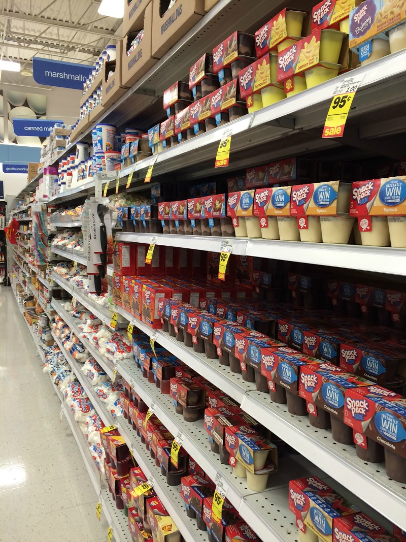 snack pack aisle at meijer